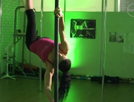 Pole dancing slides into fitness world [VIDEO]