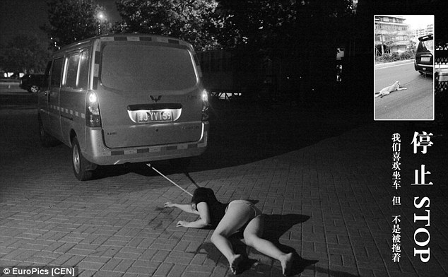 Pole dancers pose as stray dogs in protest of China's barbaric canine-eating culture