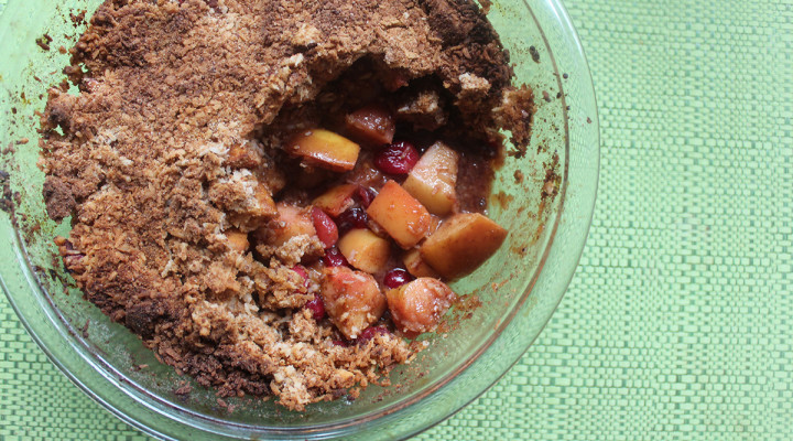 Liver-Loving Paleo Apple Cranberry Crisp
