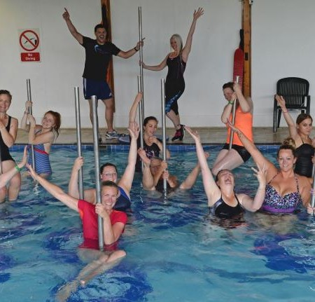 Pool pole dancing makes a splash in Pembrokeshire