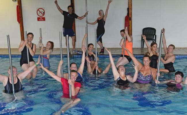 Pool pole dancing makes a splash in Pembrokeshire