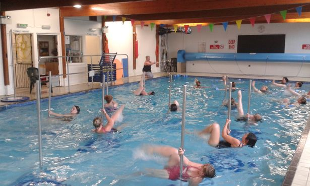 People are now doing pole dancing in swimming pools to keep fit