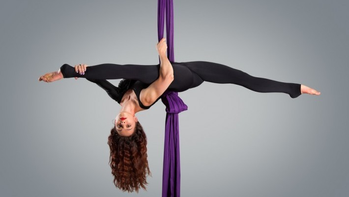 I tried an Aerial Silks class and somehow managed to not completely embarrass myself