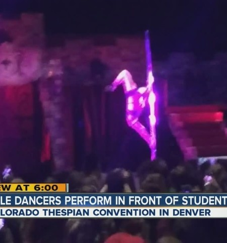 Pole dancers create buzz for high schoolers, parents at Colorado Thespian Convention