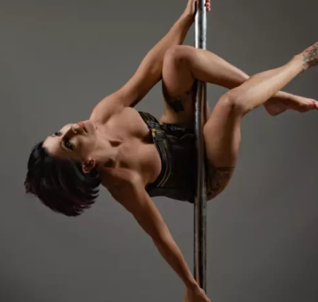 How pole dancing has helped George recover from horror smash