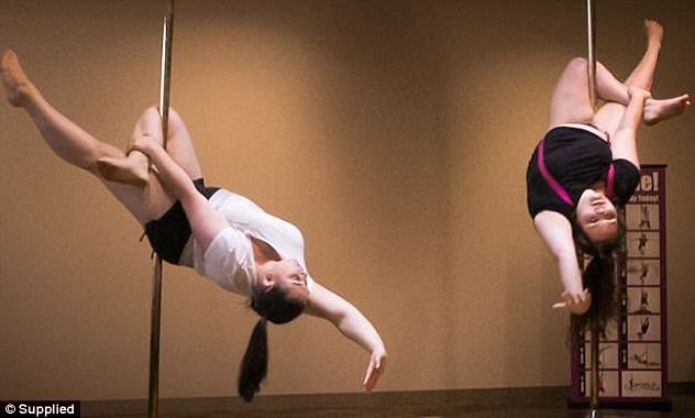 Plus-size dancers take to the pole to boost self-esteem