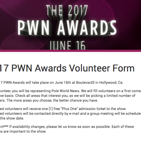 2017 PWN Awards: We need volunteers!