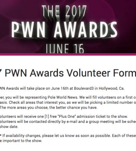 2017 PWN Awards: We need volunteers!