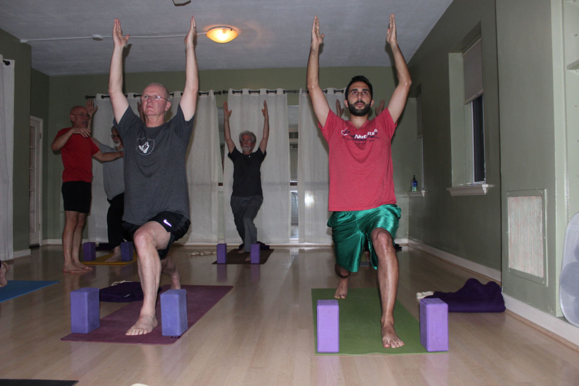 Conditioning men to be comfortable with yoga