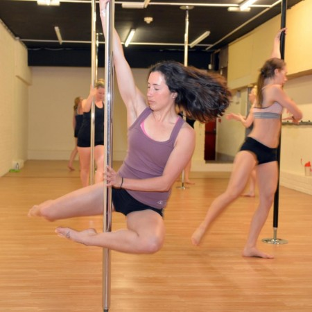 Pole dancing is a fun way of keeping fit